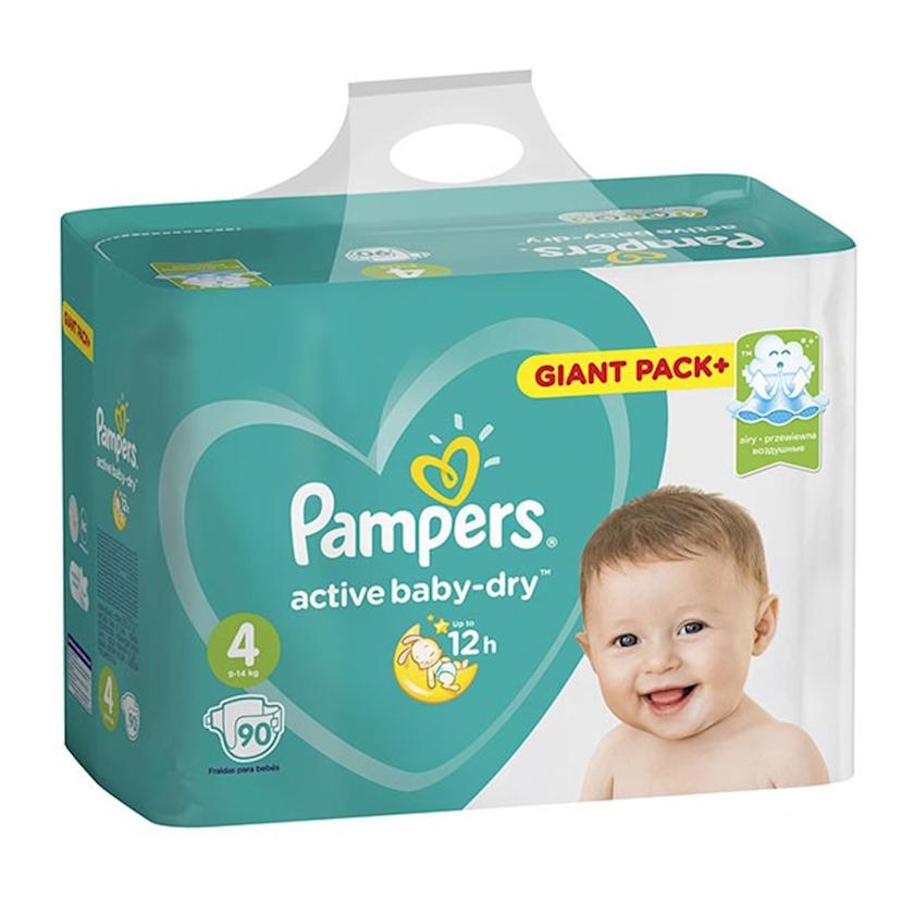 Uşaq bezi Pampers Active baby dry 4, 9-14 kq, 90 əd.