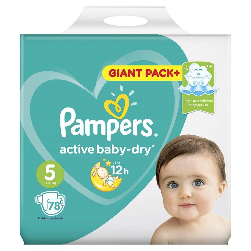 Uşaq bezi Pampers Active baby dry 5, 11-18 kq, 78 əd.