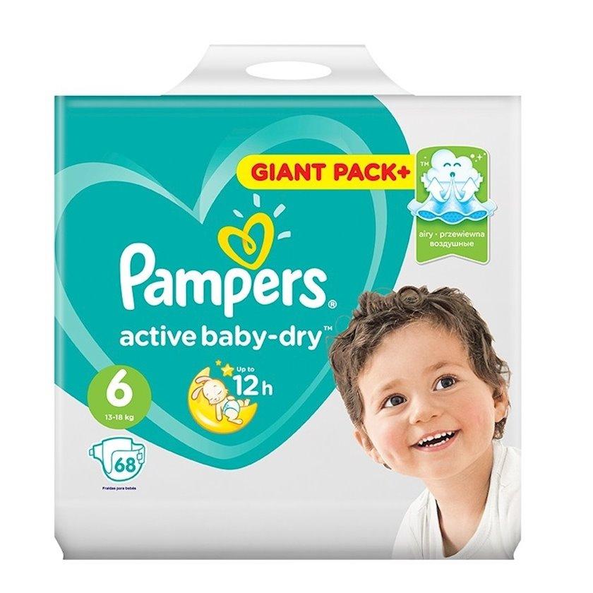 Uşaq bezi Pampers Active baby dry 6, 13-18 kq, 68 əd.