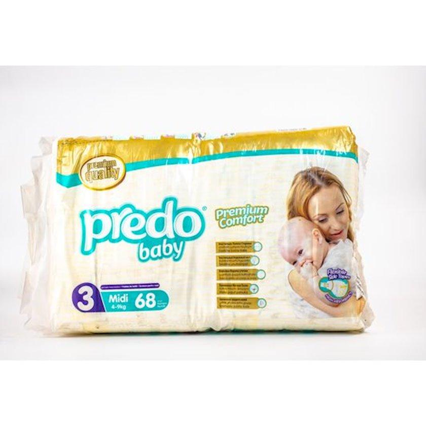 Uşaq bezi Predo Baby Midi 3, 4-9 kq, 68 əd.