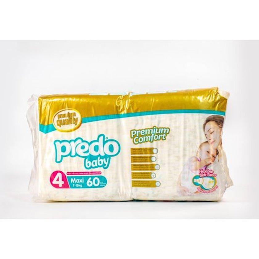 Uşaq bezi Predo Baby Maxi 4, 7-18 kq, 60 əd.