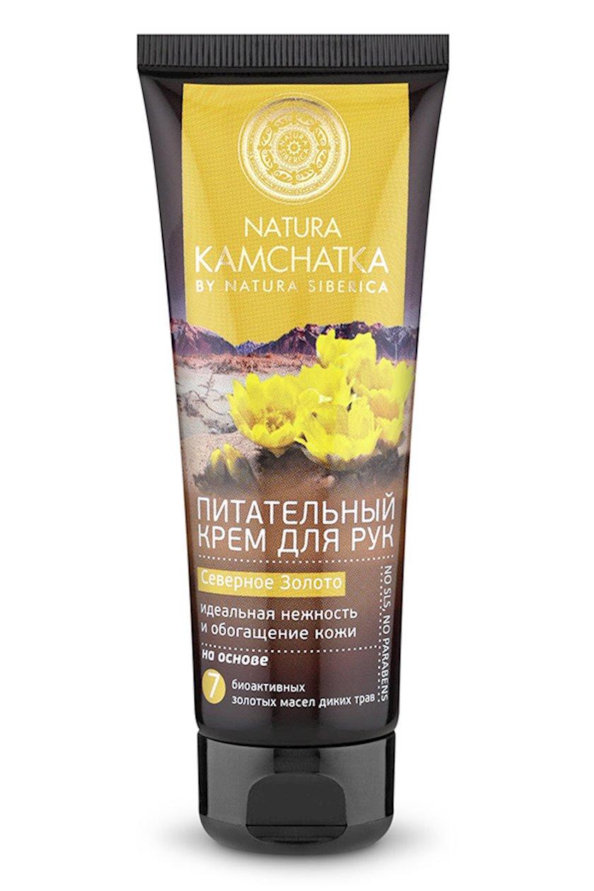 Əl kremi Natura Siberica Kamchatka Şimal qızılı Dərinin ideal zərifliyi və zənginləşməsi 75 ml