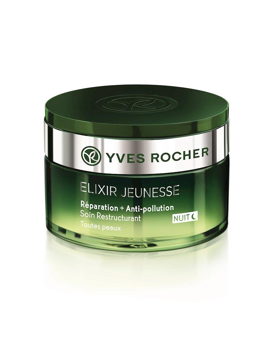 Gecə üz üçün kremi Yves Rocher Regenerating repairing + anti-pollution night cream
