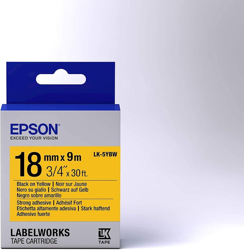 Lent Epson Tape - LK5YBW Black/Yellow 18/9