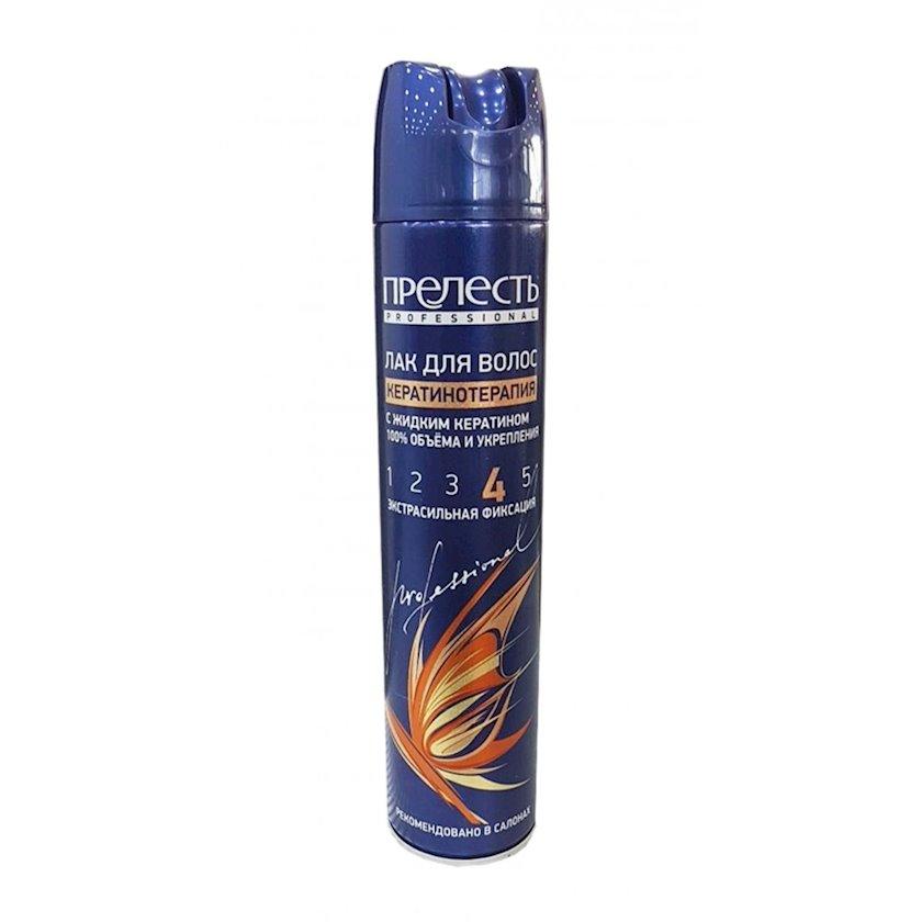 Saç üçün lak Прелесть Professional Expert Collection Keratin terapiyası ekstragüclü fiksasiya , 300 ml