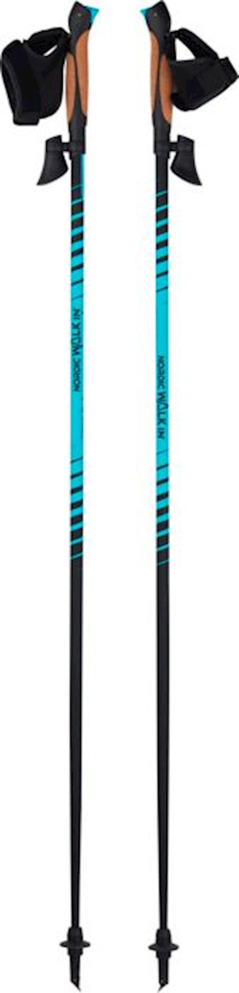 Skandinaviya yürüyüşü üçün çubuqlar Wanabee Nordic 60 X2 Hiking Poles, uniseks, 2 ədəd, qara/göy/narıncı, ölçü 120