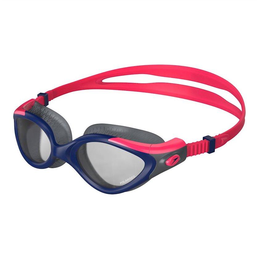 Üzgüçülük üçün eynək Speedo Futura Biofuse Flexiseal Goggles Tri Womens, qadınlar üçün, qırmızı/tünd göy/kömürlü