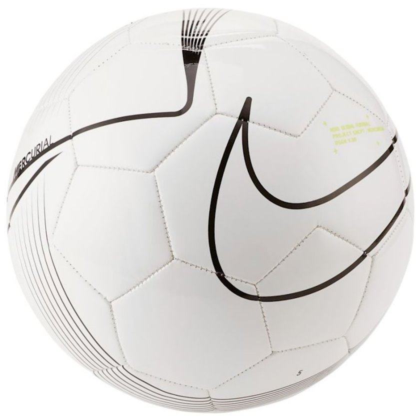Futbol topu Nike Merc Fade, ağ/qara, ölçü 5