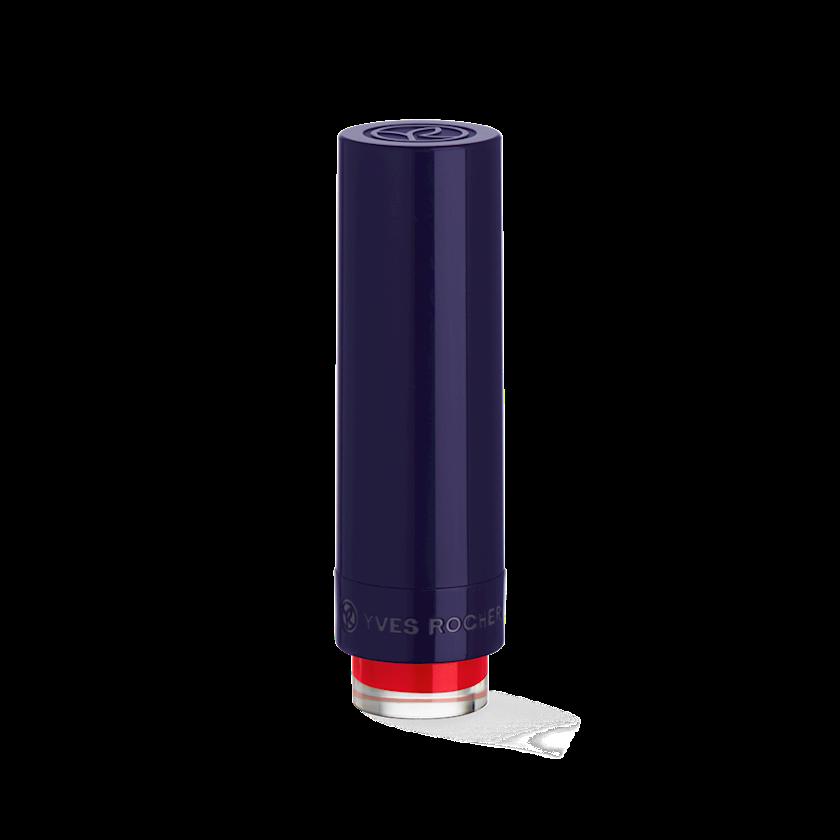 Dodaq üçün pomada Yves Rocher Rouge Vertige satine 55. Rouge Coquelicot