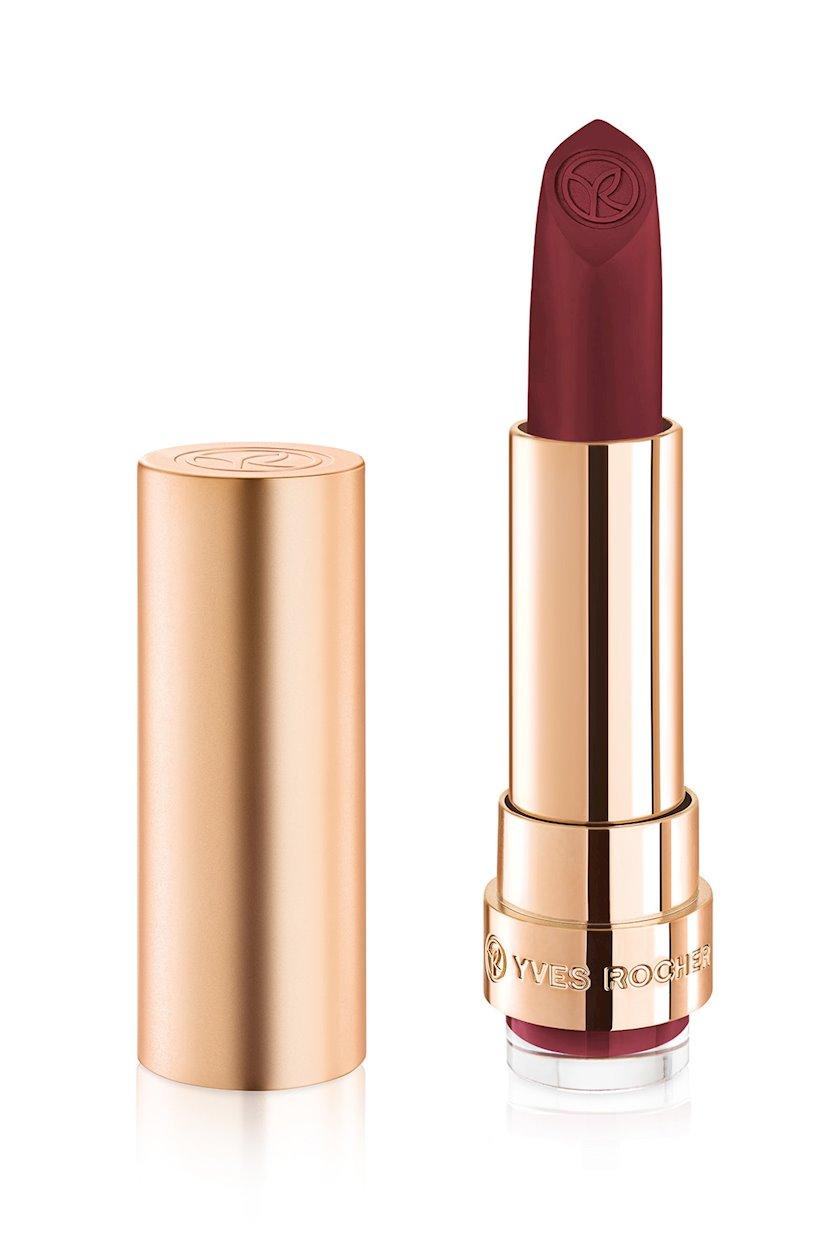 Dodaq üçün pomada Yves Rocher Matte lipstick Yves Rocher Grand Rouge 157. Cassis Audacieux