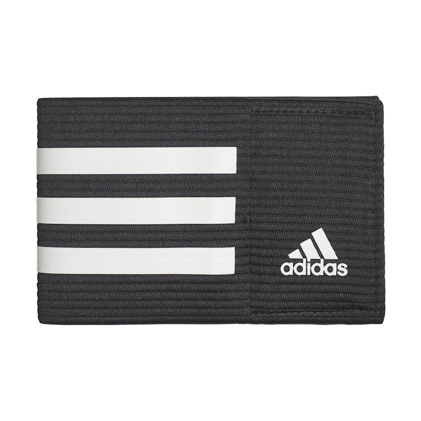 Kapitan sarğısı uşaqlar üçün Adidas Football Captain Armband Team Sports Black White 3 Stripes, qara/ağ, universal ölçü