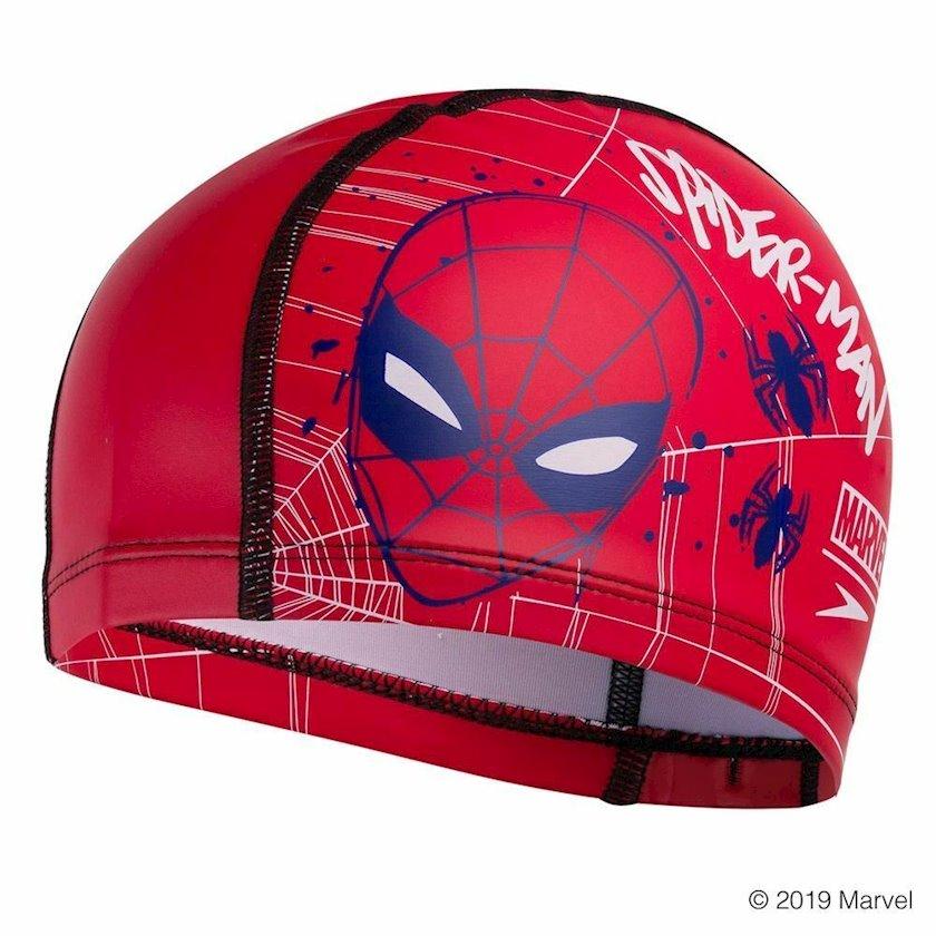 Üzgüçülük üçün papaq Speedo Junior Swimming Hat Marvel Spider-Man Printed Junior Pace Cap, uşaqlar üçün, qırmızı, universal ölçü