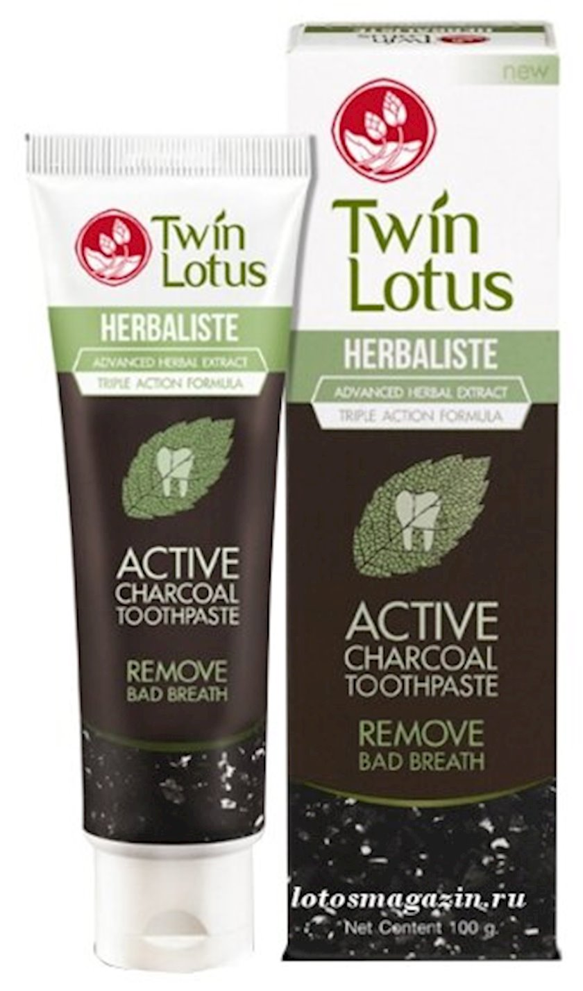 Diş məcunu Twin Lotus Premium kömür ilə 100 q