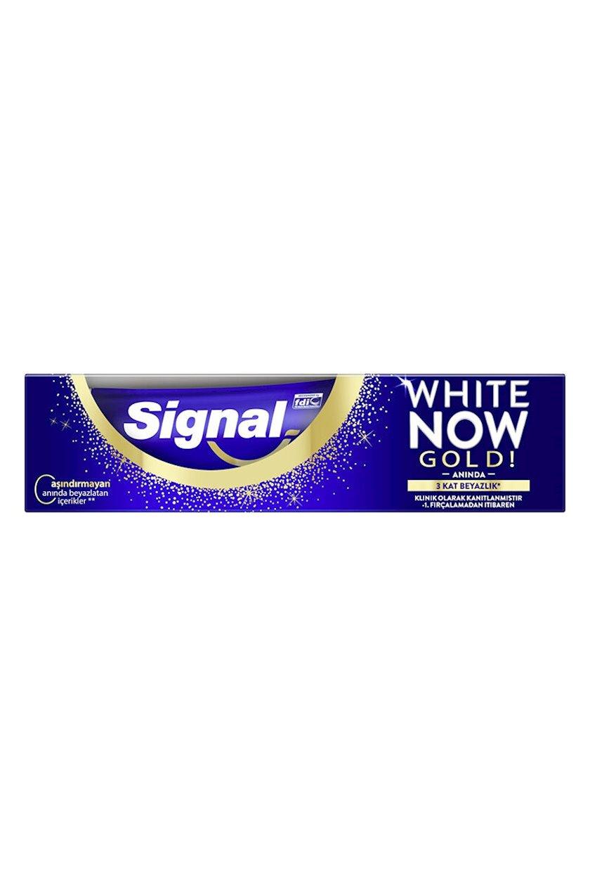 Diş məcunu Signal Dərhal ağlıq Gold 75 ml