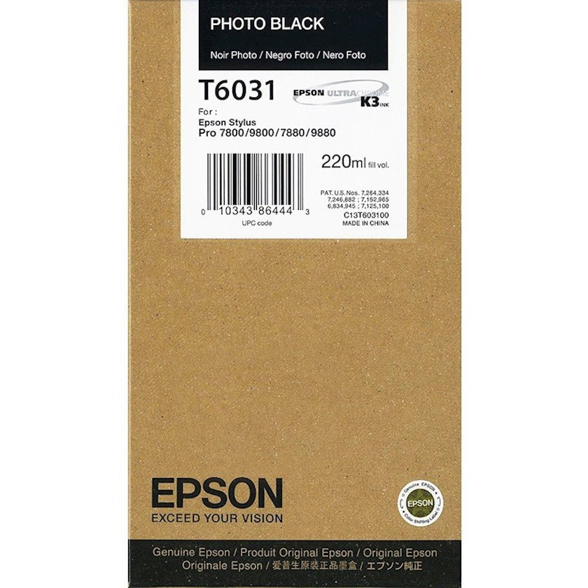 Kartric Epson T6031 Photo Black