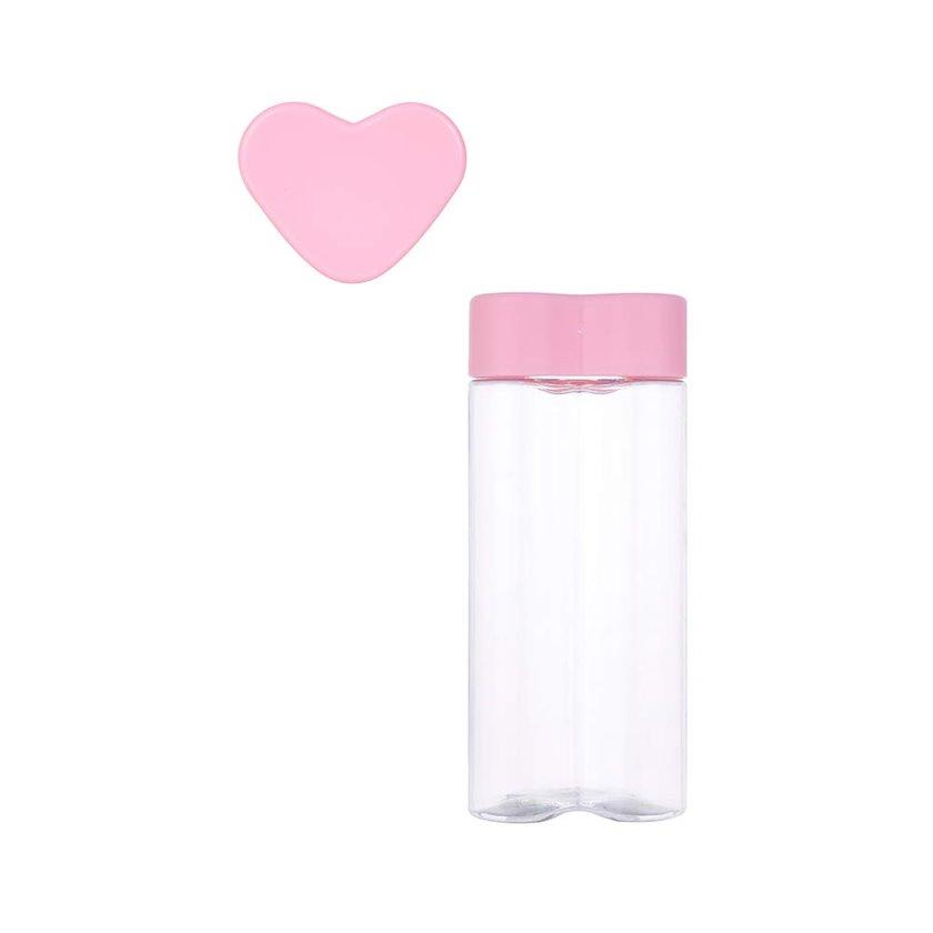 Butulka Miniso Sports Heart-shaped Tritan Water Bottle, 500 ml, çəhrayı, 7.9x6.3x18.3 sm, 100.7 q