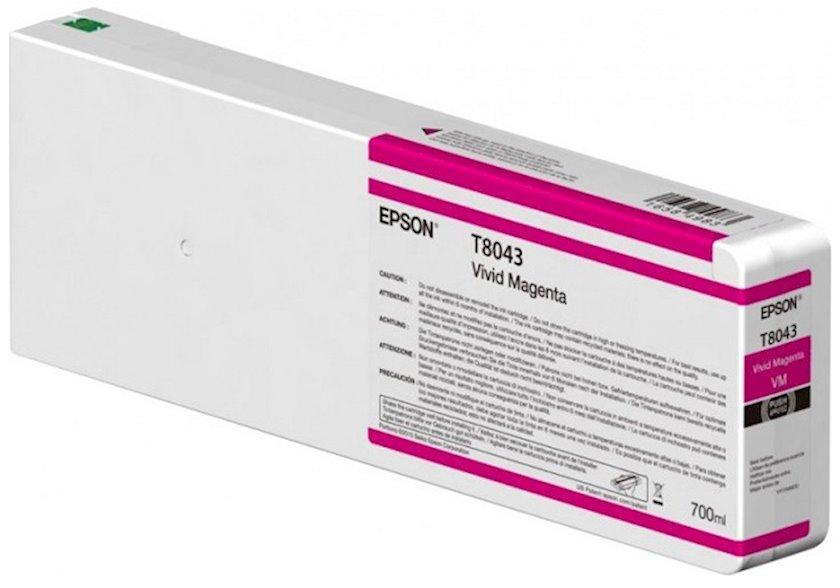 Kartric Epson Singlepack Vivid Magenta T804300 UltraChrome HDX/HD 700ml