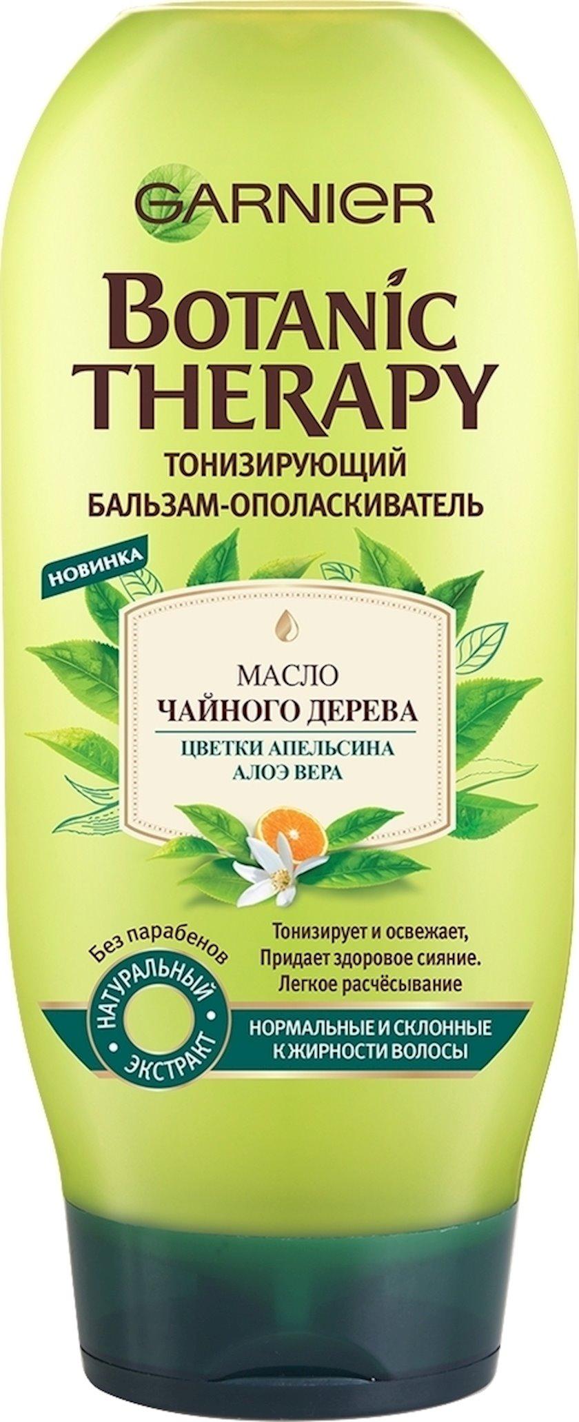 Balzam-yaxalayıcı Garnier Botanic Therapy Çay ağacı yağı, portağal çiçəyi, aloe vera, normal və yağlanmağa meylli saçlar üçün, 200 ml