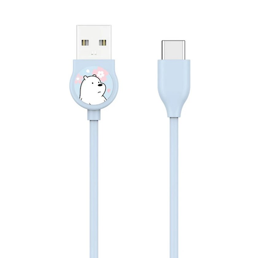 Kabel Micro USB Miniso We Bare Bears Ice Bear