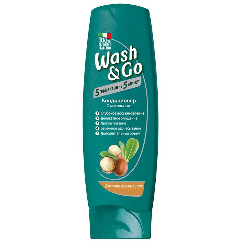 Kondisioner Wash&go Shea Butter zədələnmiş saçlar üçün