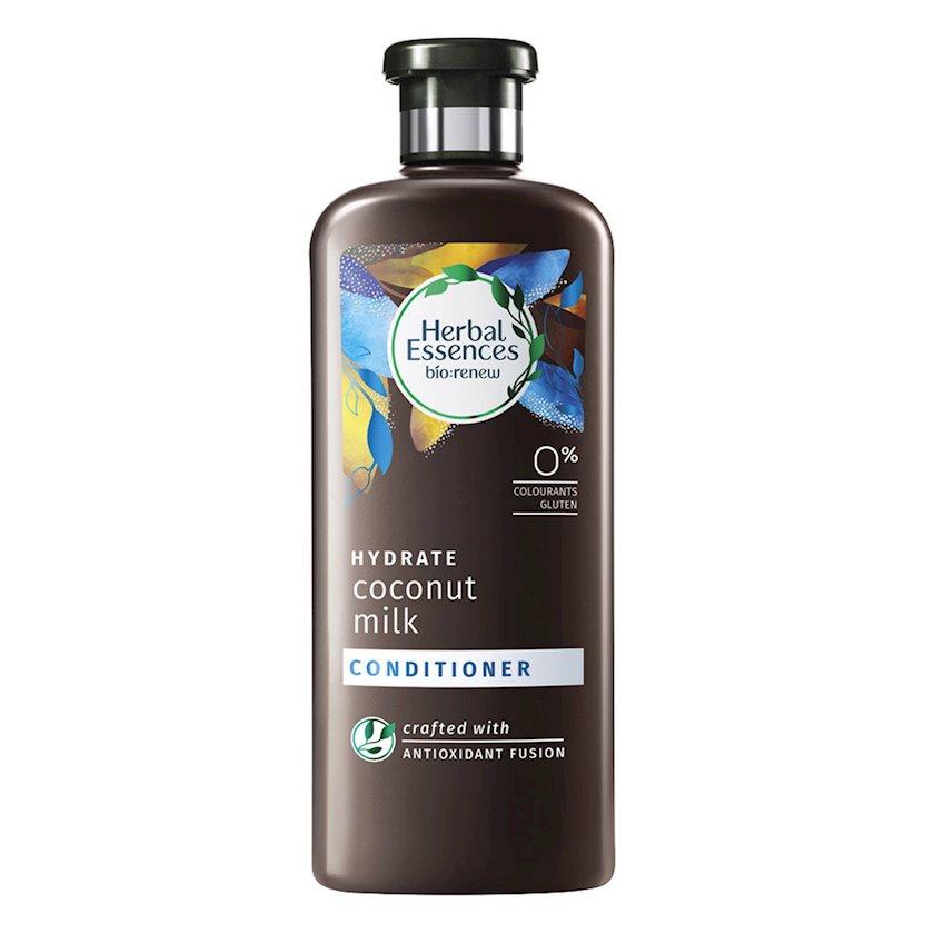Kondisioner Herbal Essences saçlar üçün Hindqozu südü