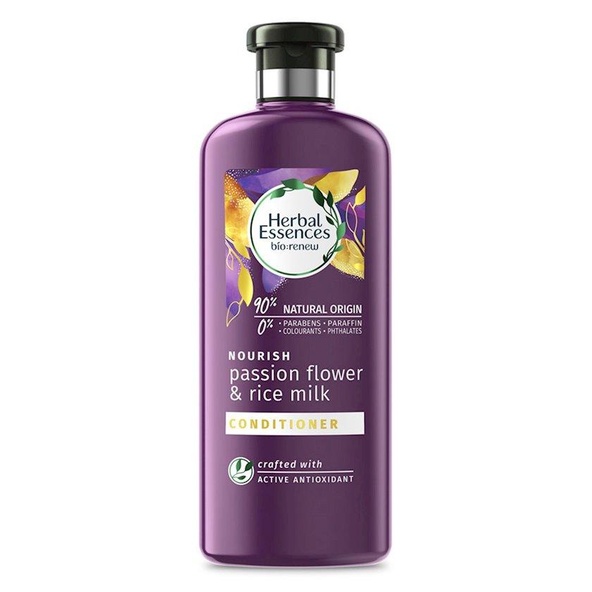 Kondisioner Herbal Essences saçlar üçün Düyü südü