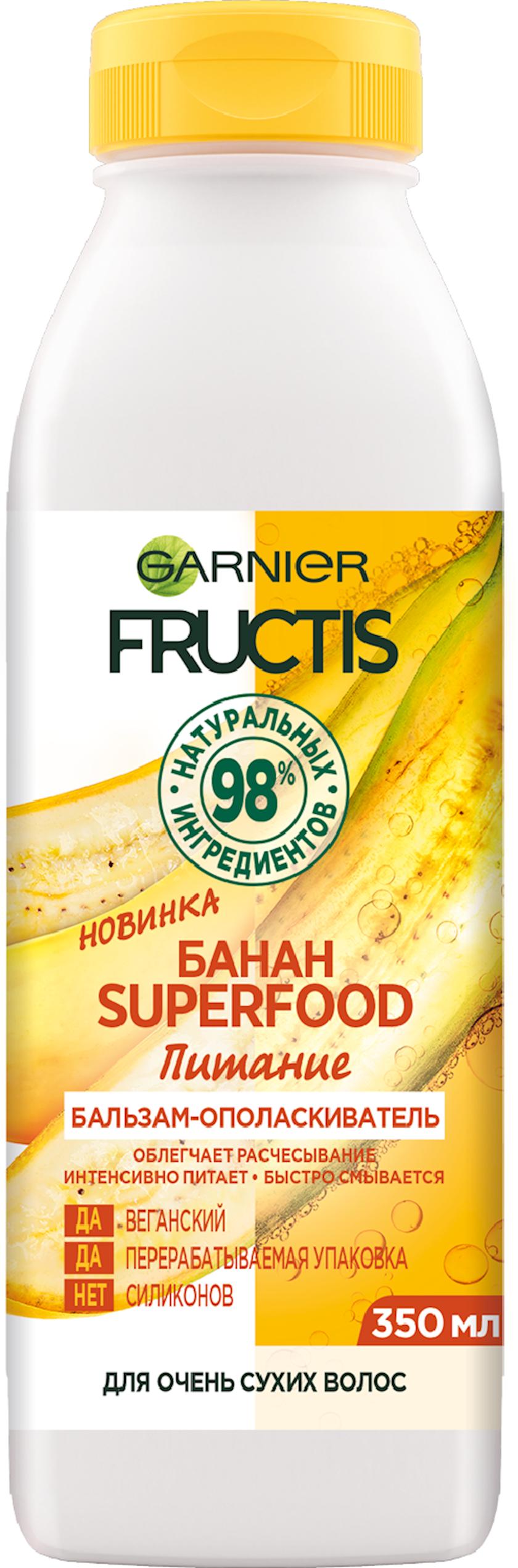 Balzam-yaxalayıcı Garnier Fructis Superfood Qidalanma Banan