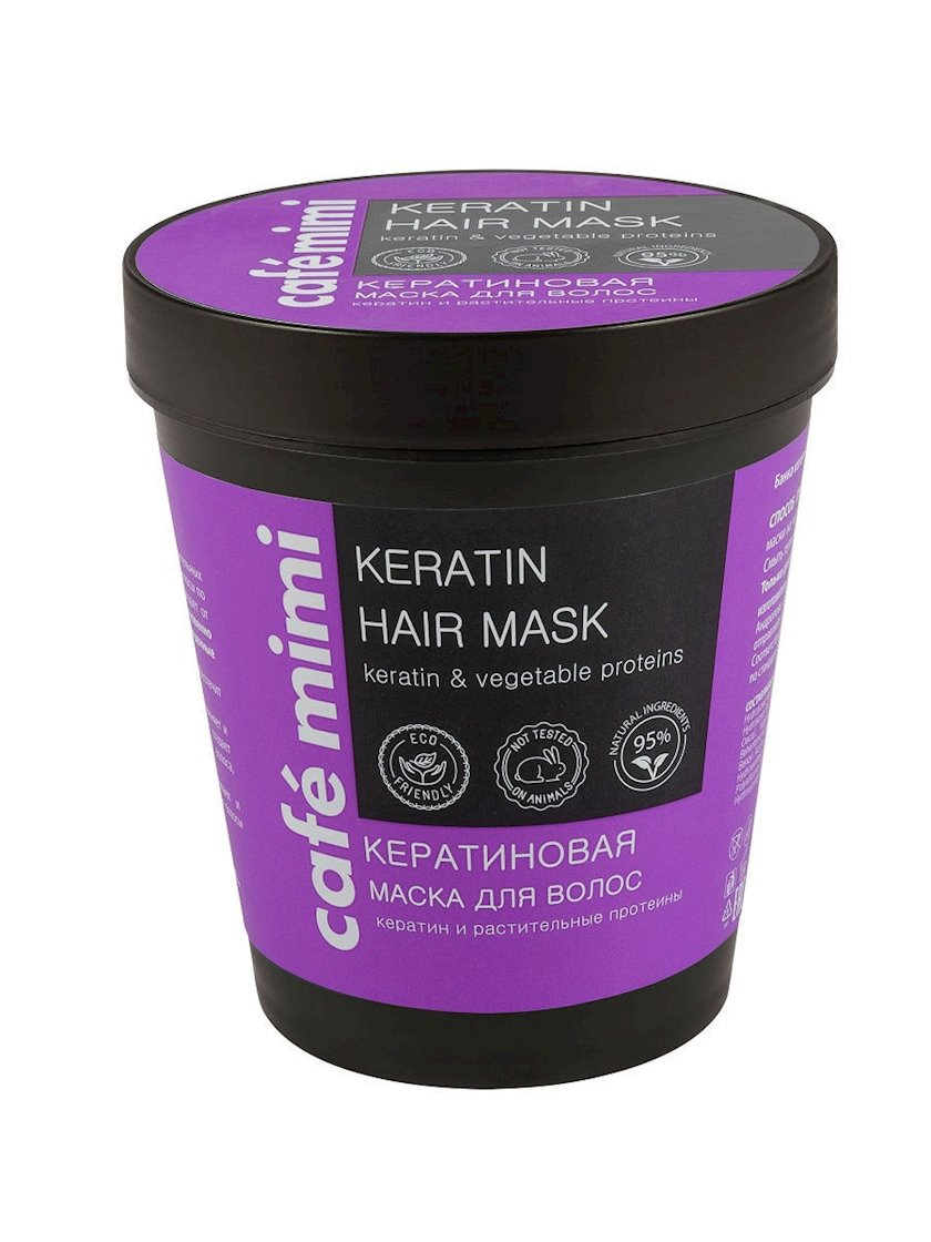 Saç üçün maska Café mimi Keratinli 220 ml