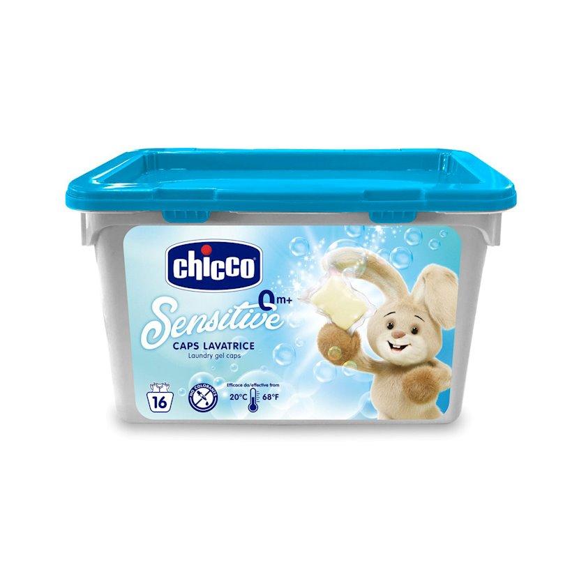 Uşaq çarşafını təmizləmək üçün vasitə Chicco Laundry Gel Caps, 16 ədəd