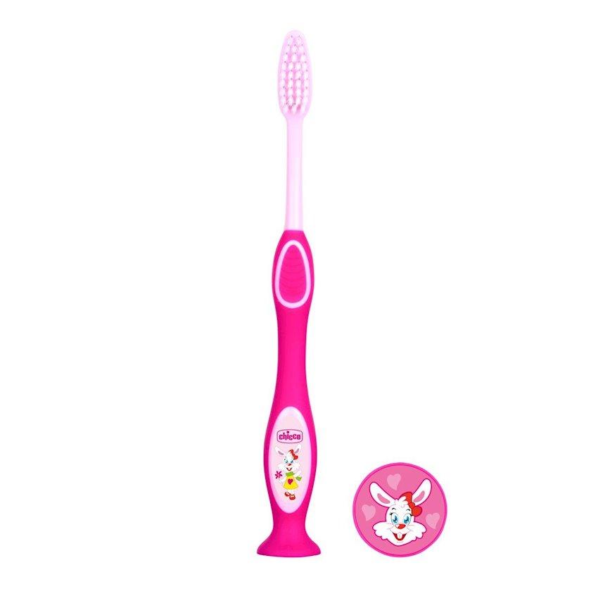 Uşaq diş fırçası Chicco süd dişləri üçün, çəhrayı