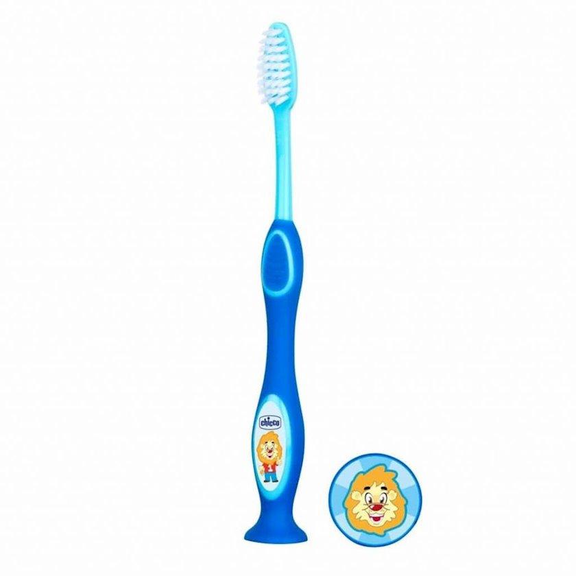 Uşaq diş fırçası Chicco süd dişləri üçün, göy
