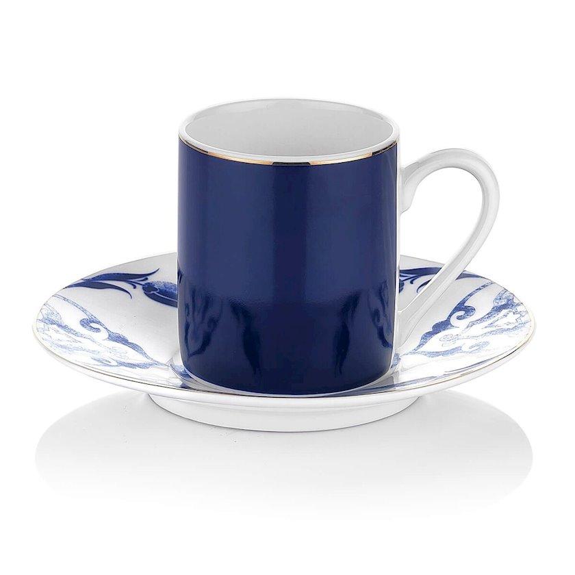 Çay üçün fincan və nəlbəki Schafer Marine Ottoman Çay Fincanı ve Tabağı, 2 parça, göy