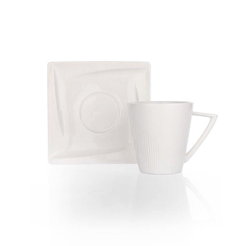 Çay üçün fincan və nəlbəki Schafer Vanilla Çay Fincanı ve Tabağı,1 parça,ağ