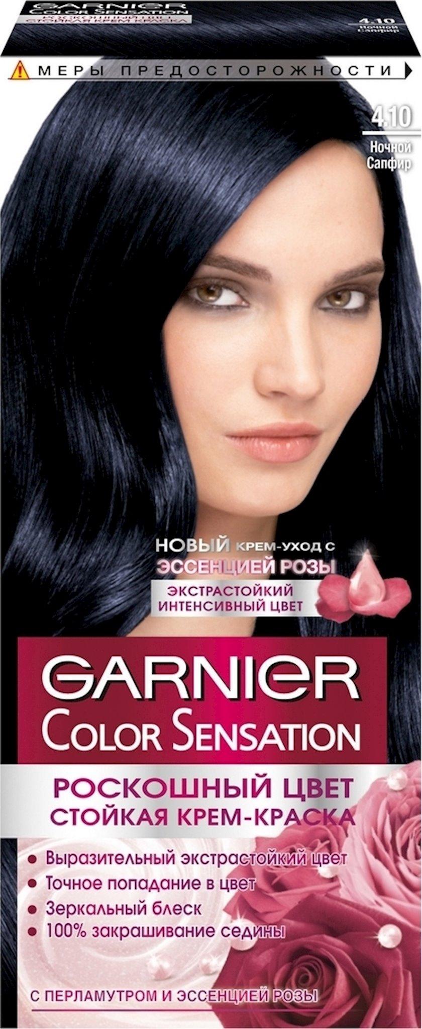 Saç boyası Garnier Color Sensation 4.10 Gecə sapfirı 110 ml