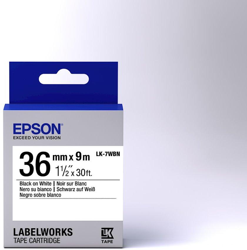 Lent Epson Tape - LK7WBN Std Black/White 36/9