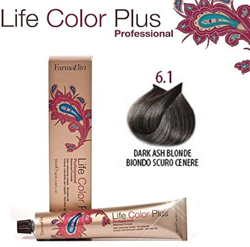 Saç boyası FarmaVita Life Color Plus 6.1 Tünd sarışın kül 100 ml