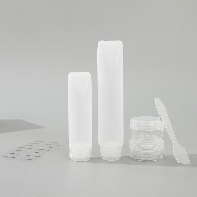 Səyahət üçün boş qablar Ximivogue Travel Bottles with Toiletry Bag White 5 əd