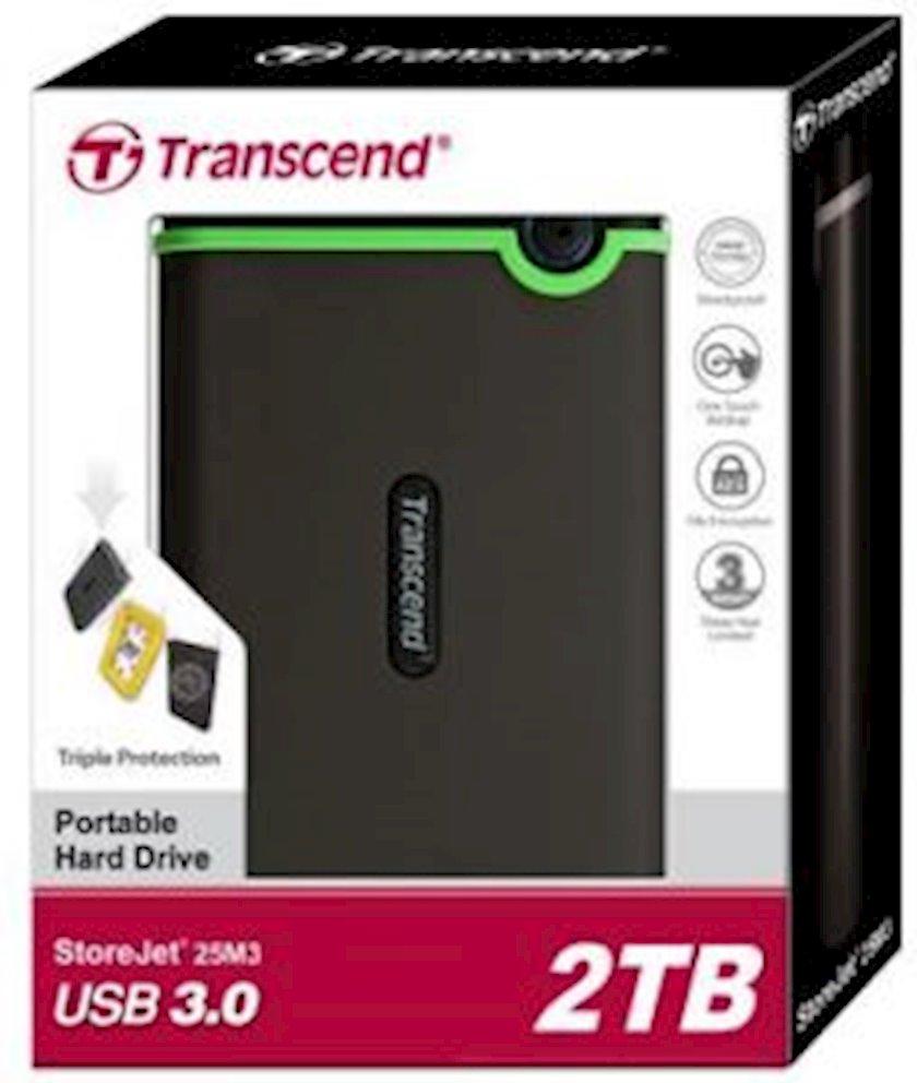 Xarici sərt disk TRANSCEND 2.5 USB 3.0 StoreJet 2TB Iron Gray Slim