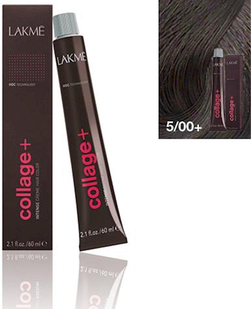 Saç krem-boyası Lakme Collage Creme Hair Color 5/00+ Açıq qəhvəyi intensiv