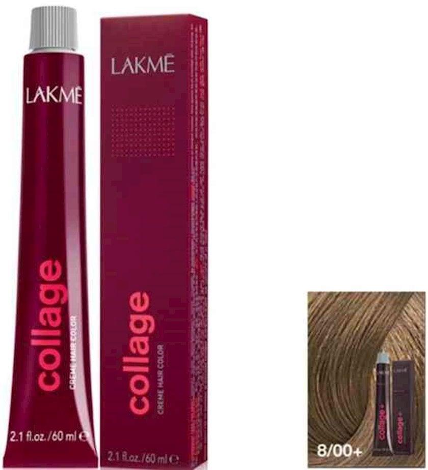 Saç krem-boyası Lakme Collage Creme Hair Color 8/00+ Açıq sarışın intensiv