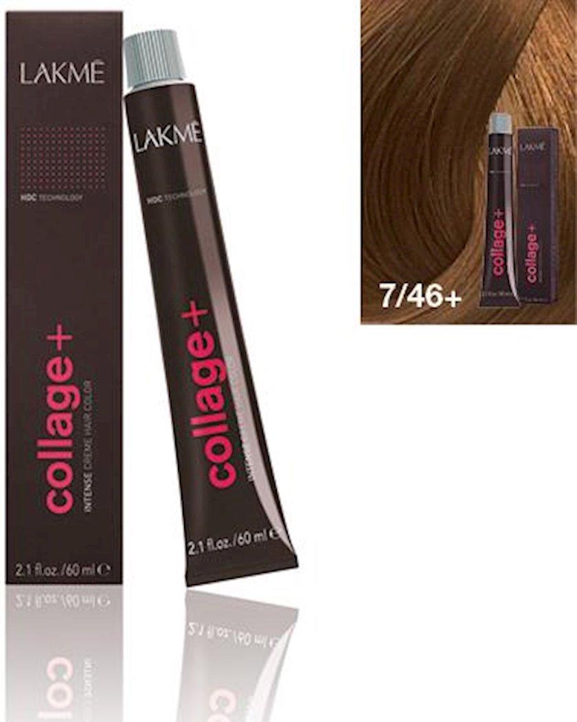 Saç krem-boyası Lakme Collage Intense 7/46+ Orta sarışın intensiv
