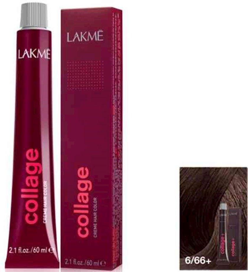 Saç krem-boyası Lakme Collage Intense 6/66+ Tünd sarışın intensiv qəhvəyi parlaq