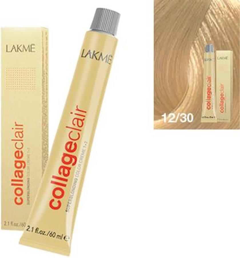 Saç krem-boyası Lakme Collage Clair 12/30 Super rəng açıcı qızılı sarışın