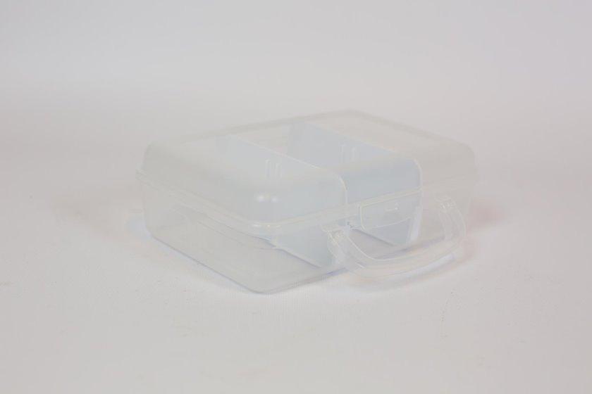 Lanç-boks Irak plastik CM740 üç bölmə ilə, 22x14x7sm