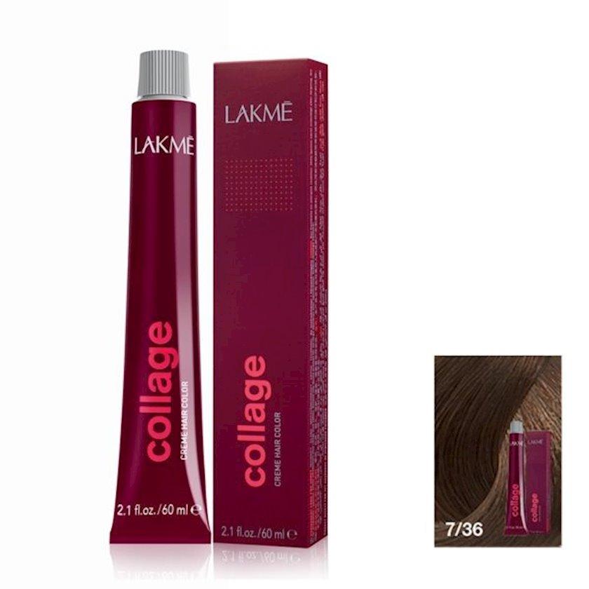 Saç krem-boyası Lakme Collage Creme Hair Color 7/36 Orta sarışın qızılı qəhvəyi