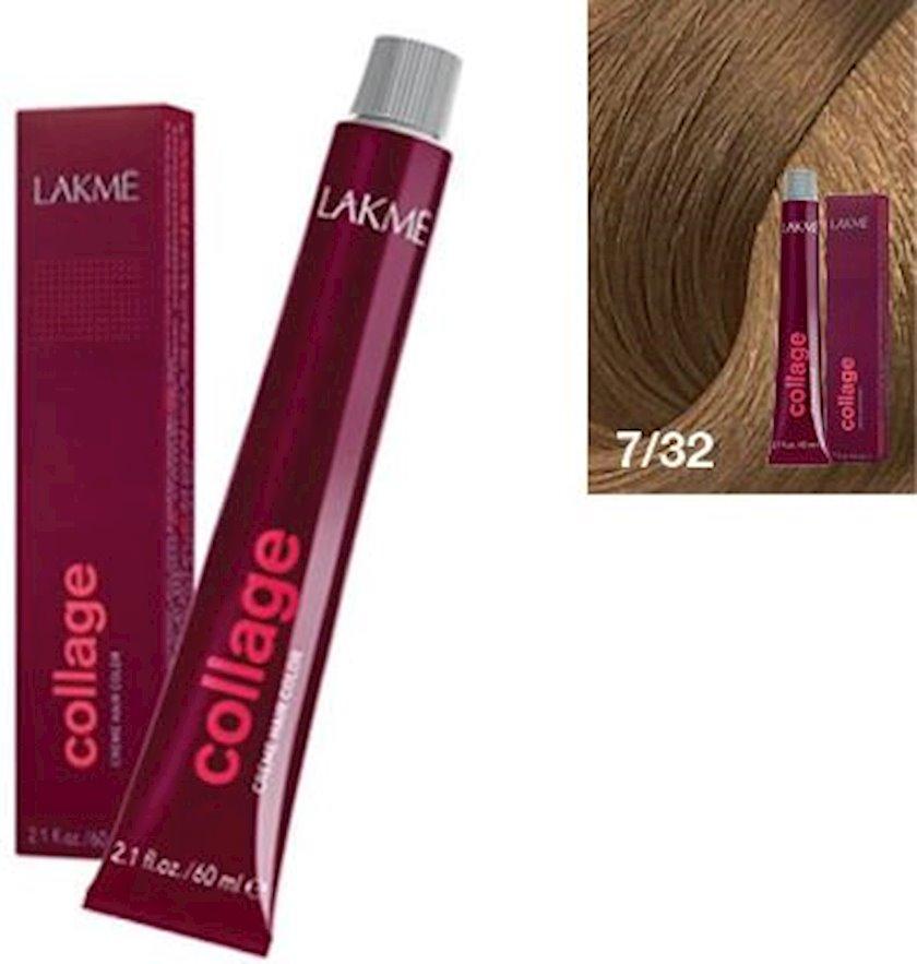 Saç krem-boyası Lakme Collage Creme Hair Color 7/32 Orta sarışın qızılı bənövşəyi