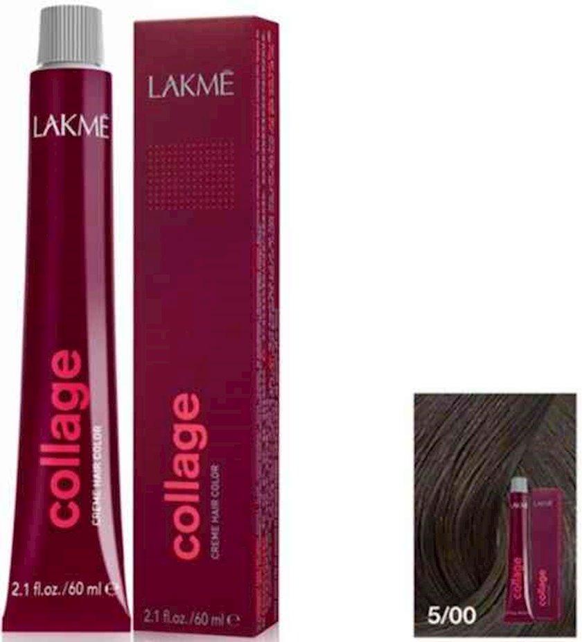 Saç krem-boyası Lakme Collage Creme Hair Color 5/00 Açıq qəhvəyi