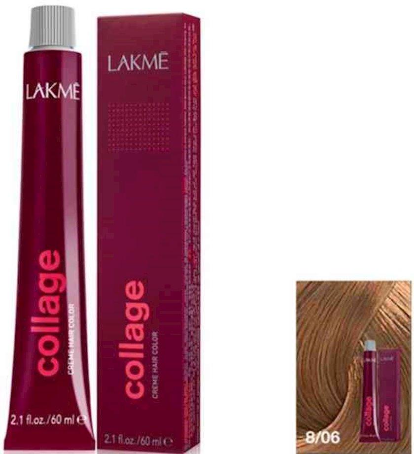 Saç krem-boyası Lakme Collage Creme Hair Color 8/06 Açıq sarışın isti