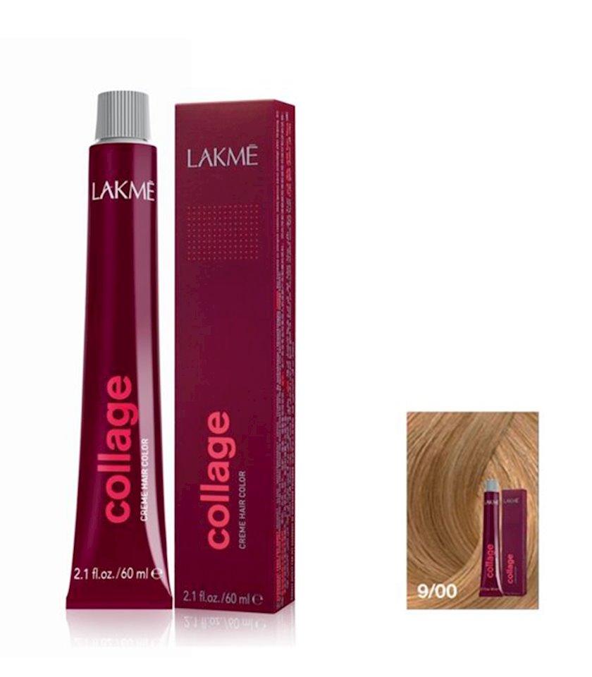 Saç krem-boyası Lakme Collage Creme Hair Color 9/00 Açıq sarışın