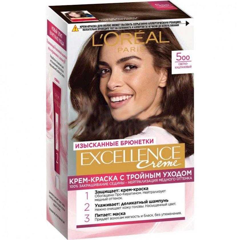 Davamlı saç boyası L'Oreal Paris Excellence Creme çalar 5.00 176 ml